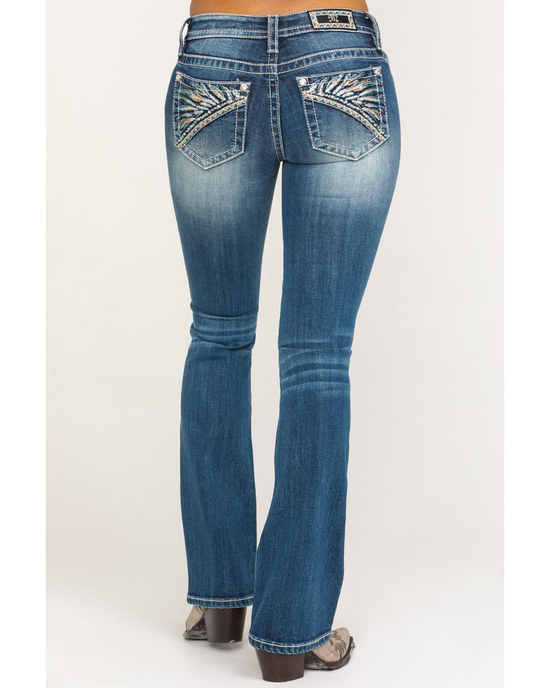 Miss Me Women's Headdress Chloe Bootcut Jeans, Blue, hi-res