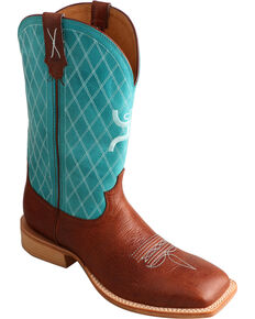 Twisted X Men's HOOey Two Toned Western Boots, Cognac, hi-res