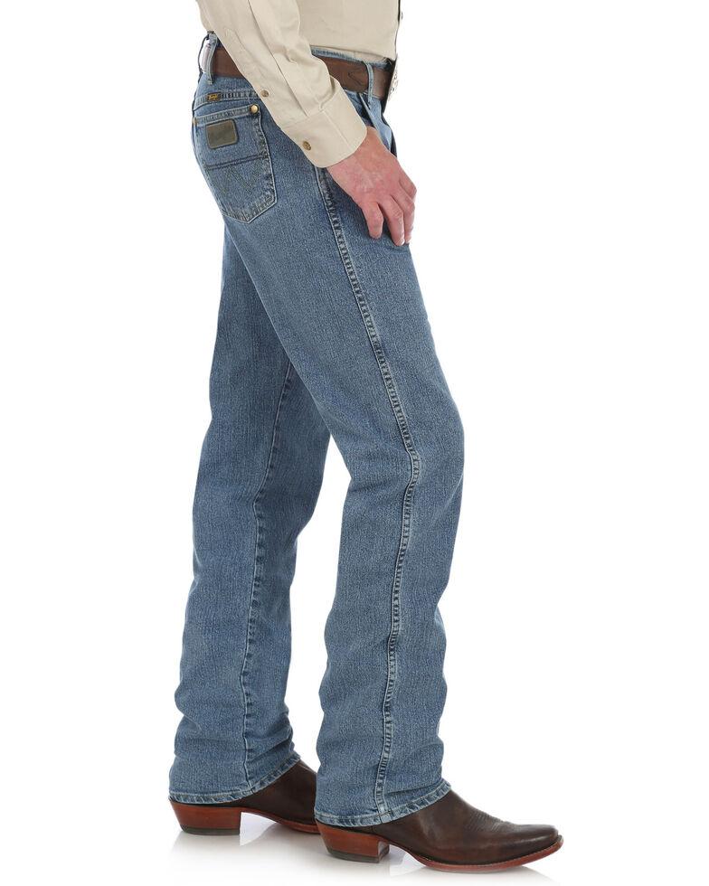 George Strait By Wrangler Men's Regular Fit Boot Cut Jeans, Blue, hi-res