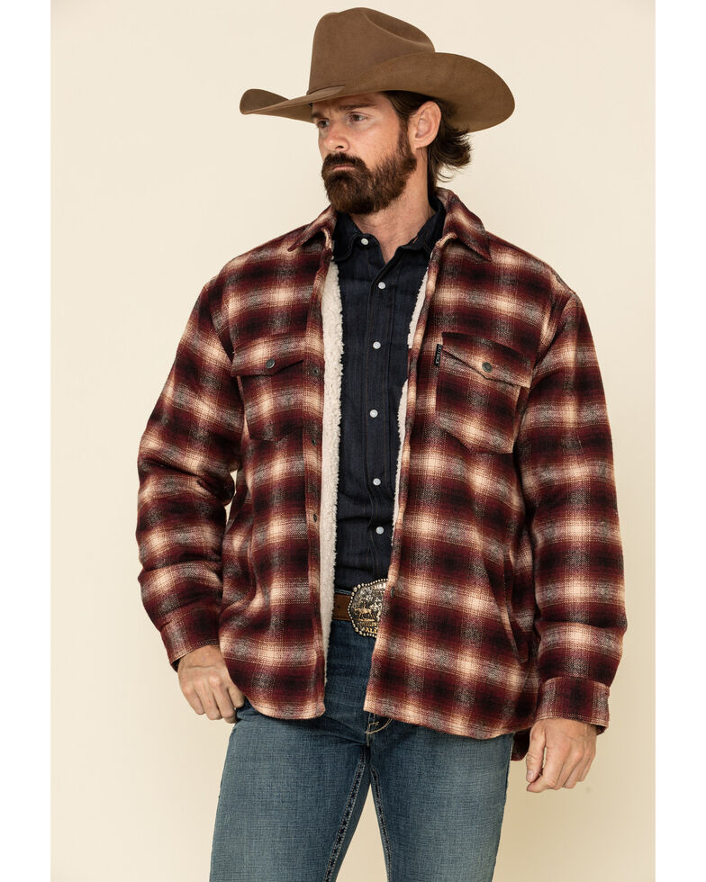 Outback Trading Co. Men's Red Plaid Arden Jacket , Red, hi-res