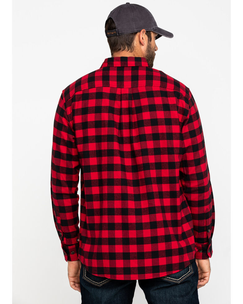 Dickies Men's Flex Stretch Flannel Long Sleeve Work Shirt , Red, hi-res