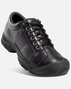 Keen Men's PTC Oxford Work Shoes - Round Toe, Black, hi-res