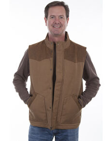 Scully Men's Canvas Vest, Tan, hi-res