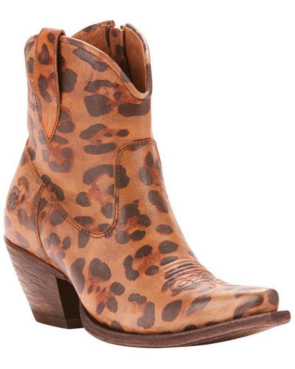 Ariat Women's Circuit Cruz Cool Cat Fashion Booties - Snip Toe, Leopard, hi-res