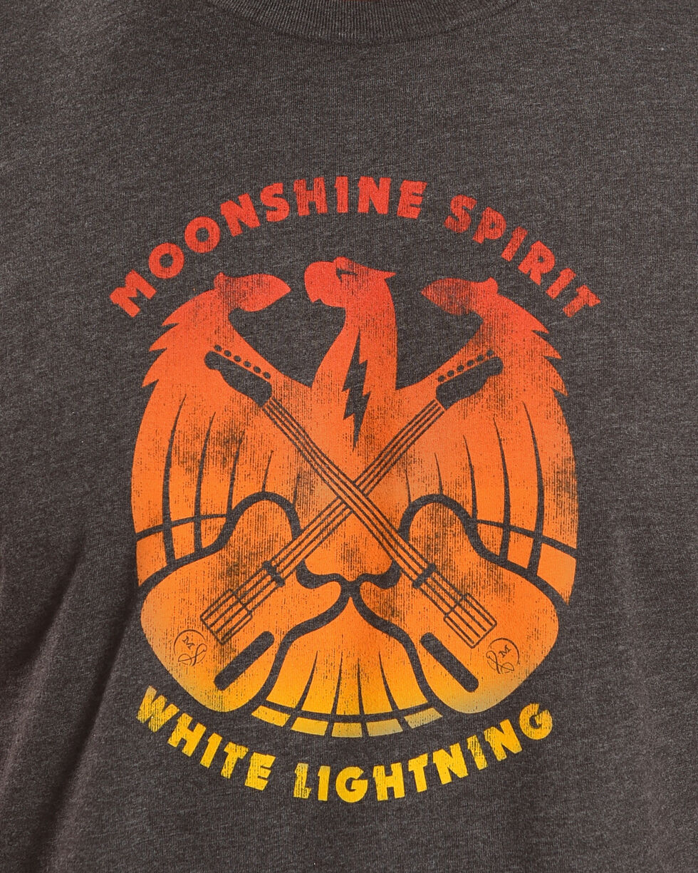 Moonshine Spirit Men's White Lightning Short Sleeve T-Shirt, Charcoal, hi-res