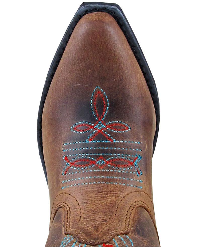 Smoky Mountain Girls' Flora Western Boots - Snip Toe, Brown, hi-res