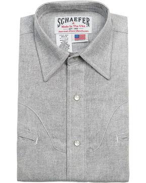 Schaefer Outfitter Men's Graphite Vintage Chisholm Chambray Shirt - 2XL, Light Grey, hi-res
