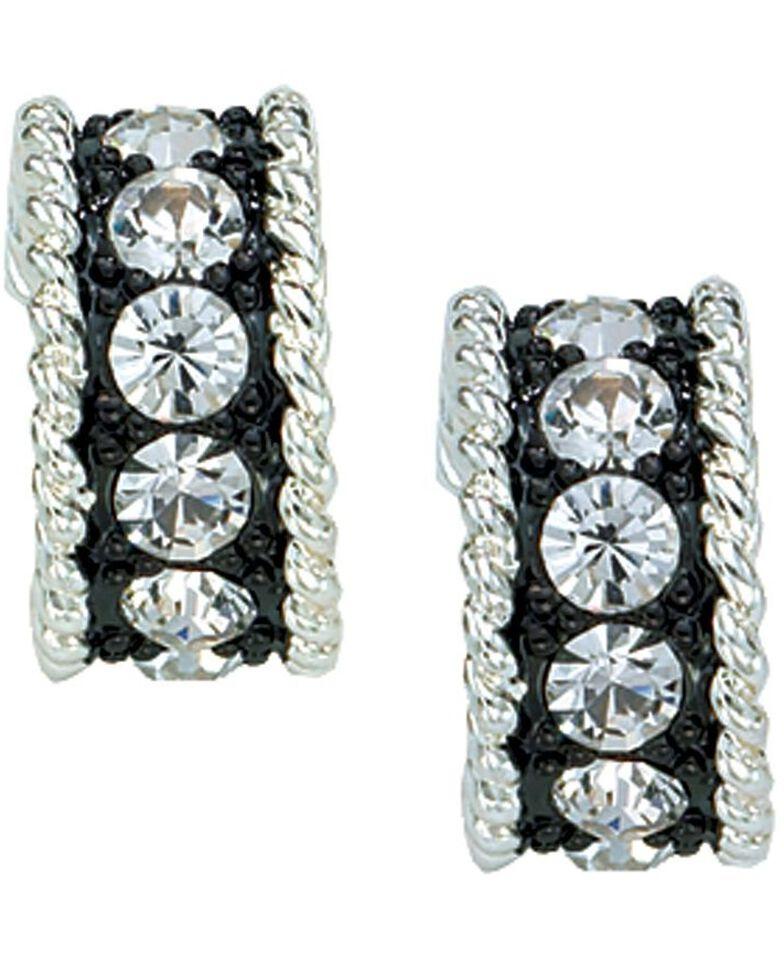 Montana Silversmiths Women's Crystal Shine Small Loop Earrings, Silver, hi-res
