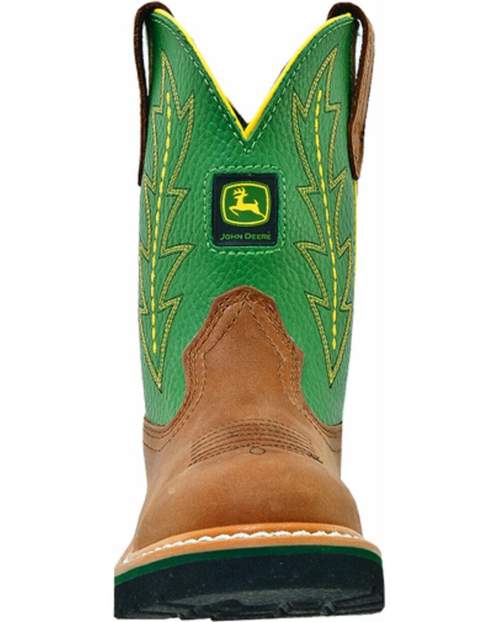 John Deere® Youth Johnny Popper Western Boots, Tan, hi-res