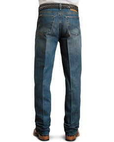 Stetson Relaxed Bootcut Standard Jeans, Med Stone, hi-res