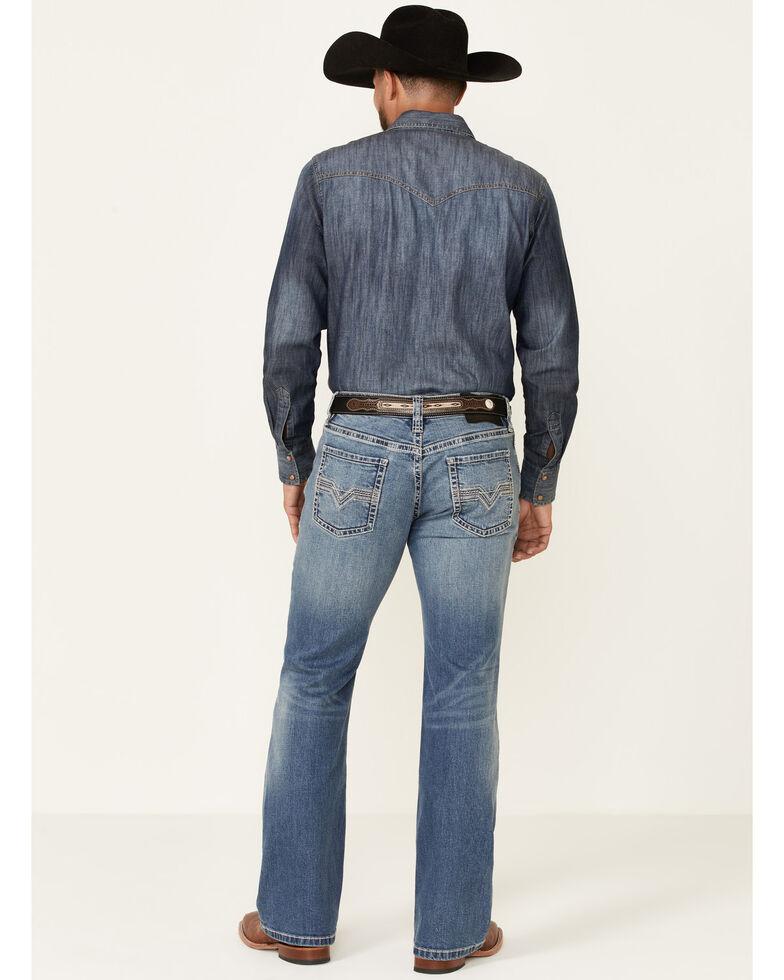 Rock & Roll Denim Men's Med Vintage Pistol Stretch Regular Bootcut Jeans , Blue, hi-res