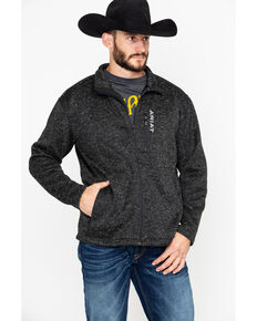 Ariat Men's Black Caldwell Full Zip Sweater , Black, hi-res
