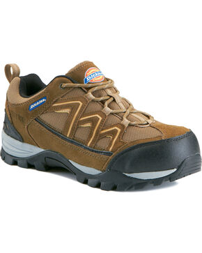 Dickies Men's EH Solo Shoes - Steel Toe, Brown, hi-res