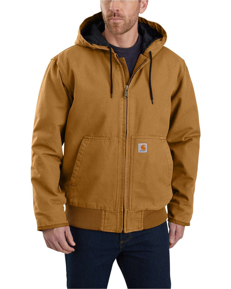 Carhartt Men's Sandstone Lined M 130 Active Work Jacket , Brown, hi-res