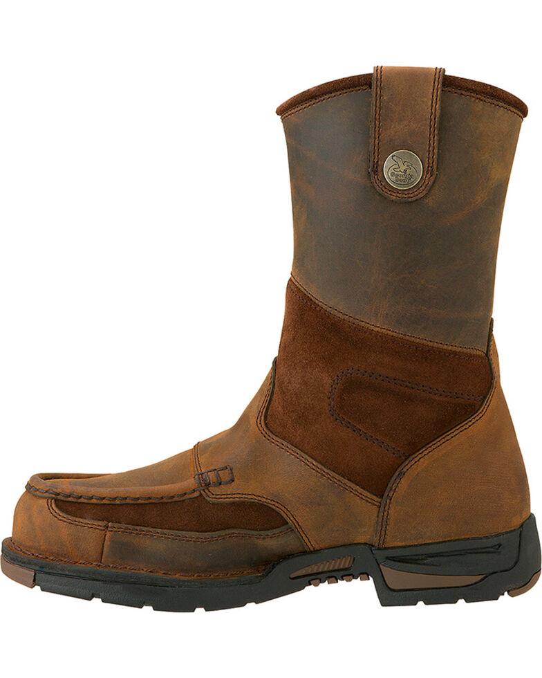 Georgia Men's Athens Steel Toe Wellington Boots, Brown, hi-res