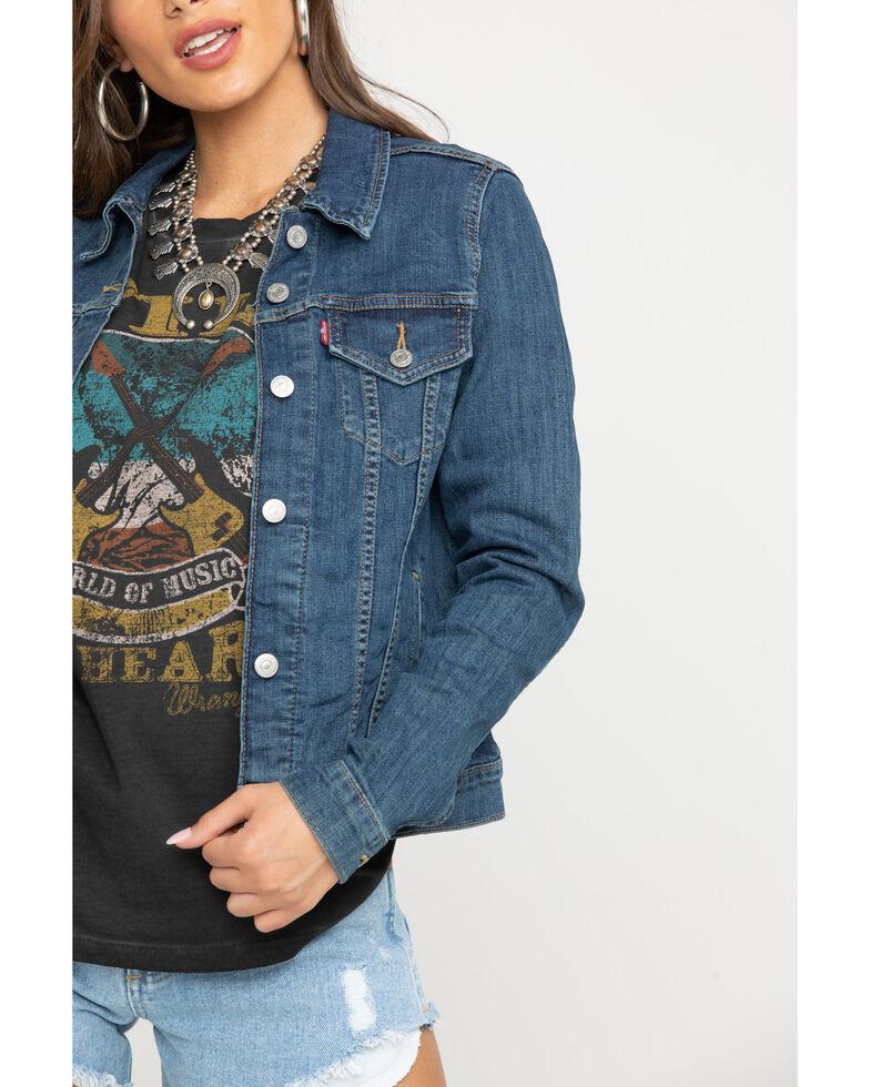 Levi's Women's Ex Boyfriend Trucker Jacket, Blue, hi-res