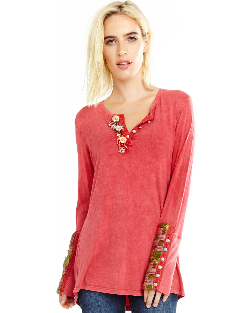 Aratta Women's Dark Pink Dreamer Top , Dark Pink, hi-res