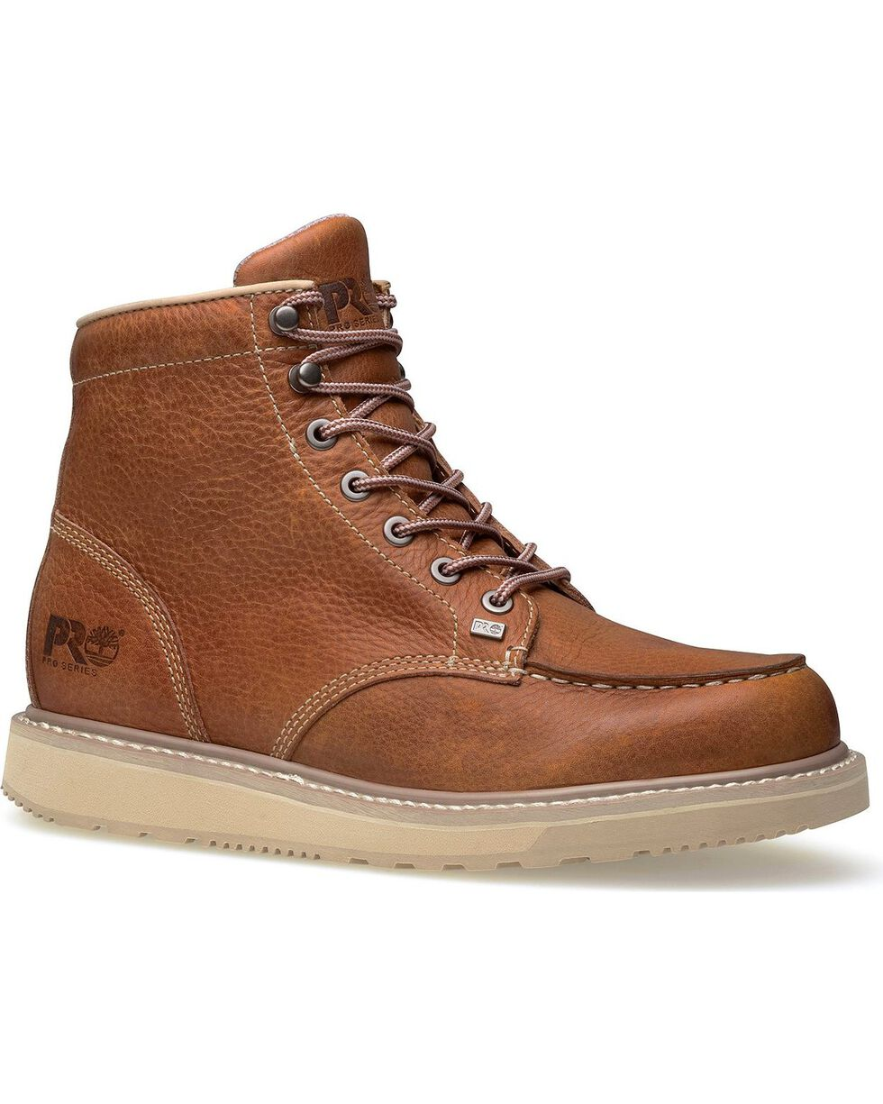 """Timberland Pro Men's 6"""" Barstow Wedge Boots, Rust, hi-res"""
