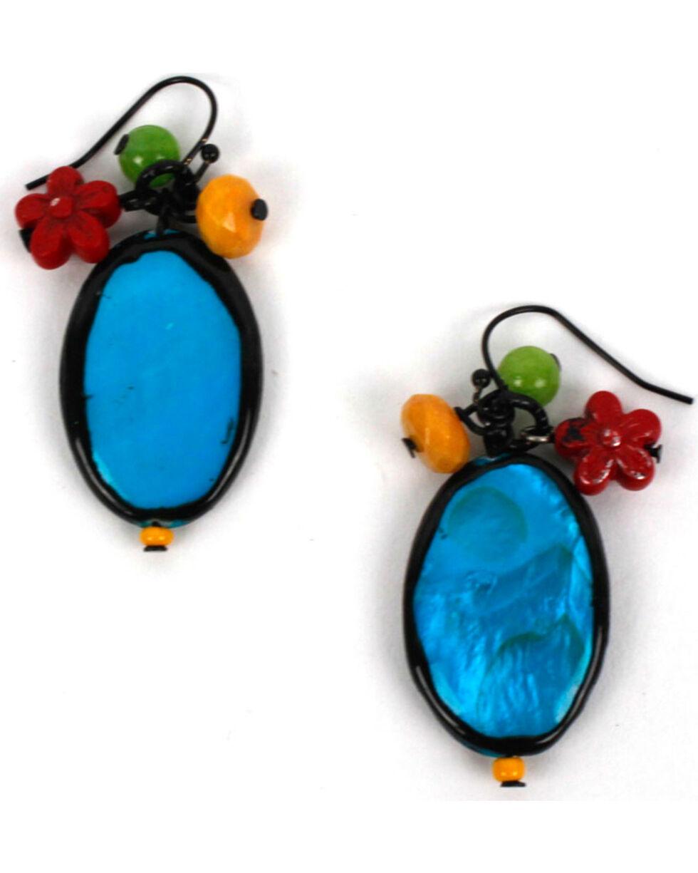 Treska Women's Drop Cluster Earrings, Black, hi-res