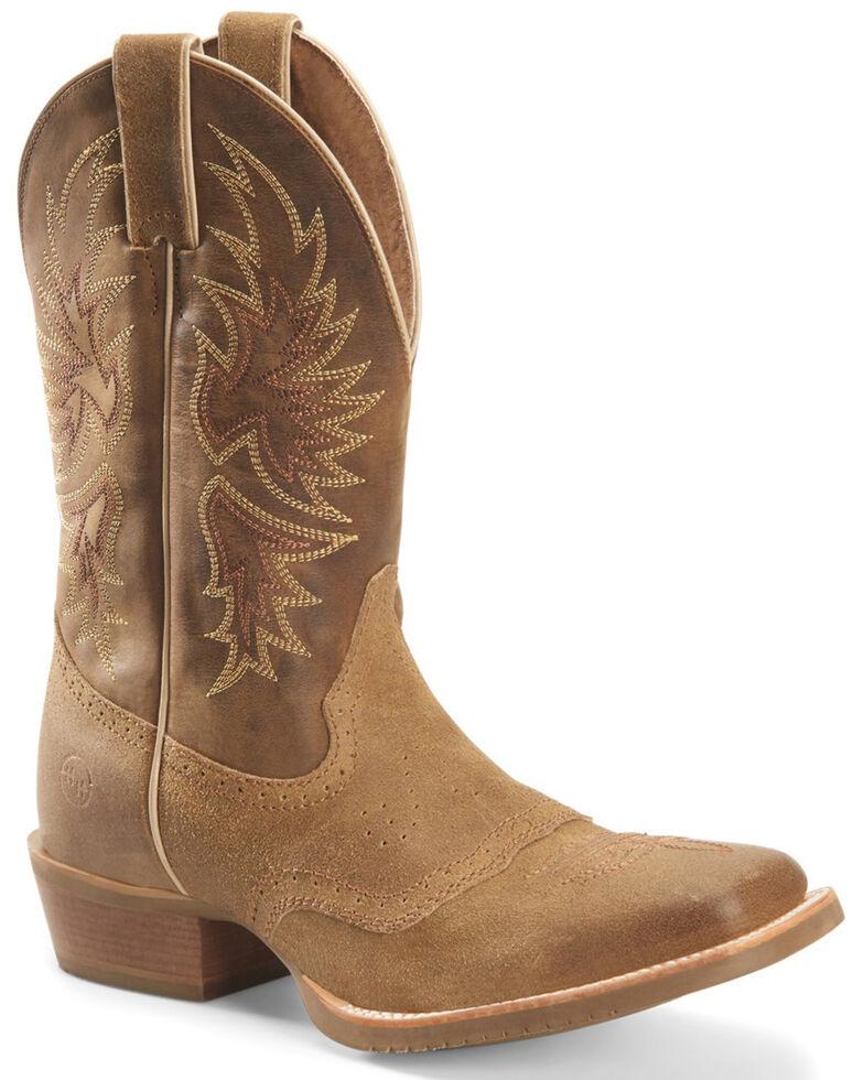Double H Men's Alvarado Western Boots - Wide Square Toe, Medium Brown, hi-res