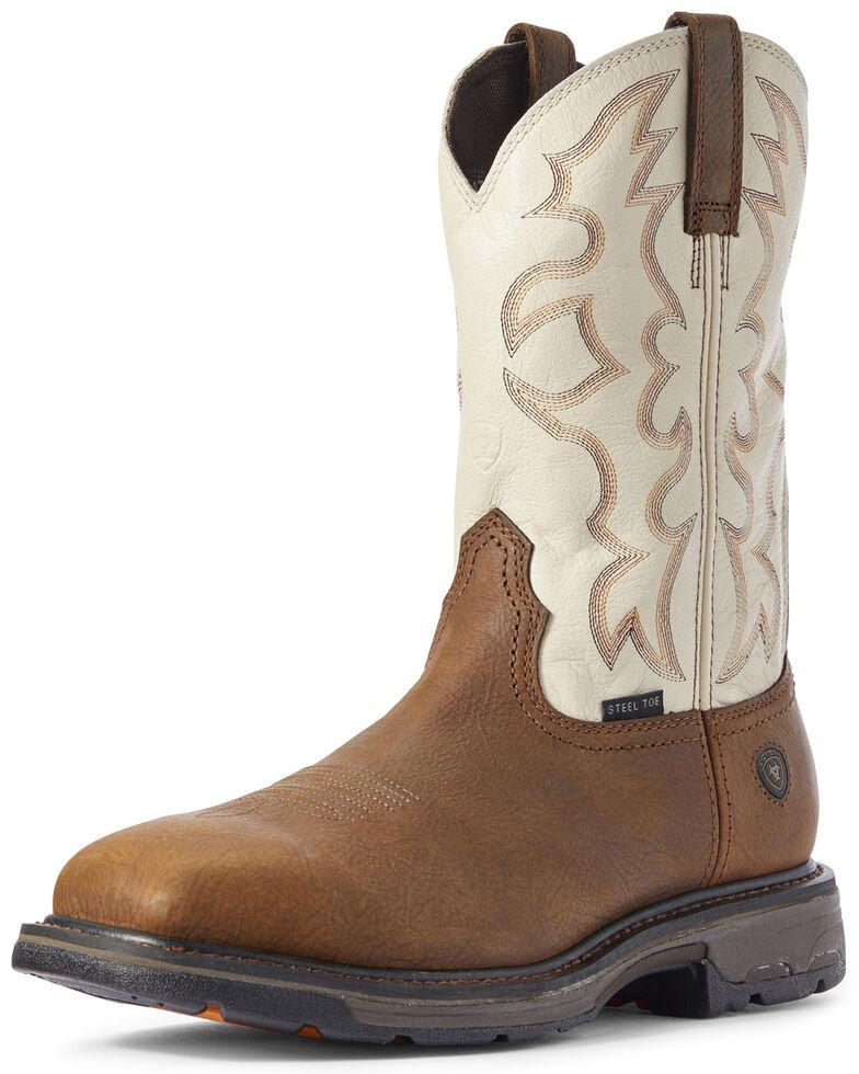 Ariat Men's Rye Workhog Western Work Boots - Steel Toe, Brown, hi-res