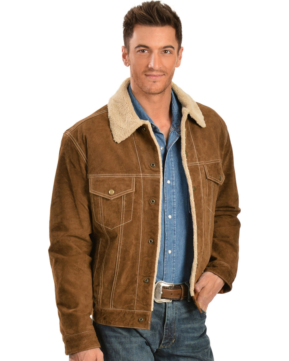 Scully Men's Boar Suede Pilot Jacket, Brown, hi-res