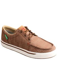 Twisted X Men's Serape Hooey Loper Shoes - Moc Toe, Coffee, hi-res