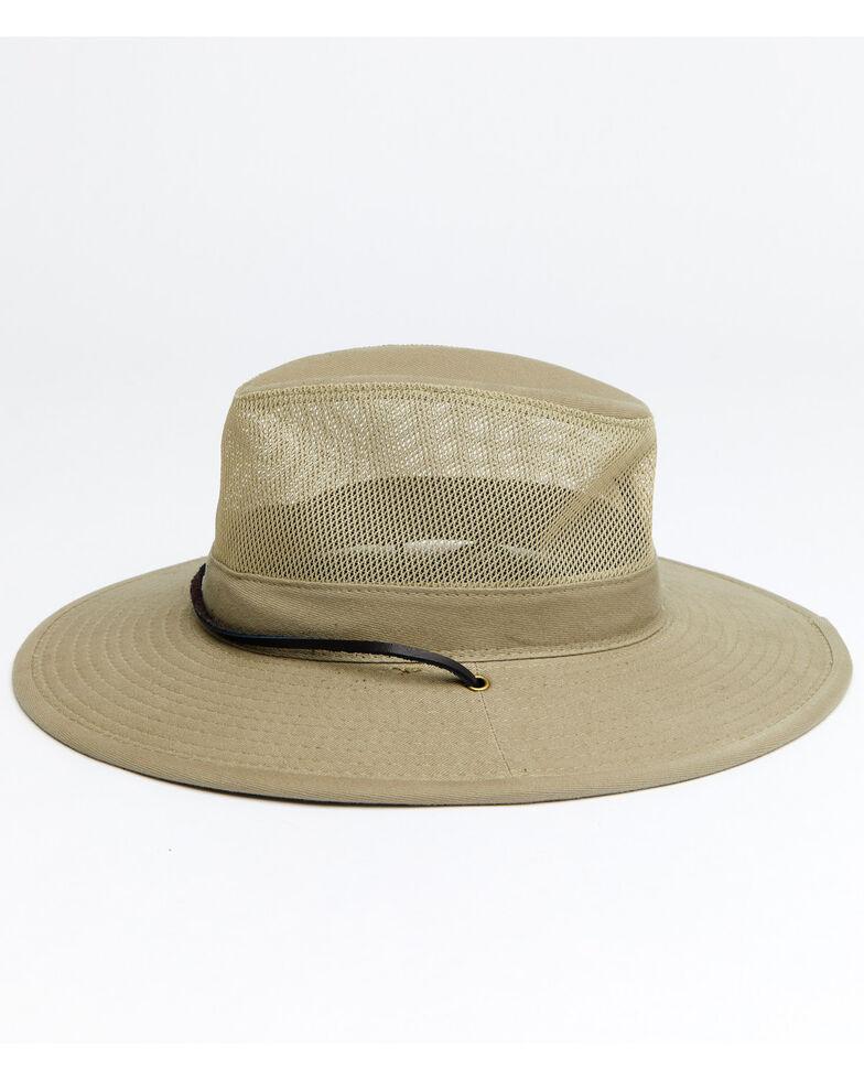 Hawx Men's Sidewall Safari Mesh Sun Work Hat , Tan, hi-res
