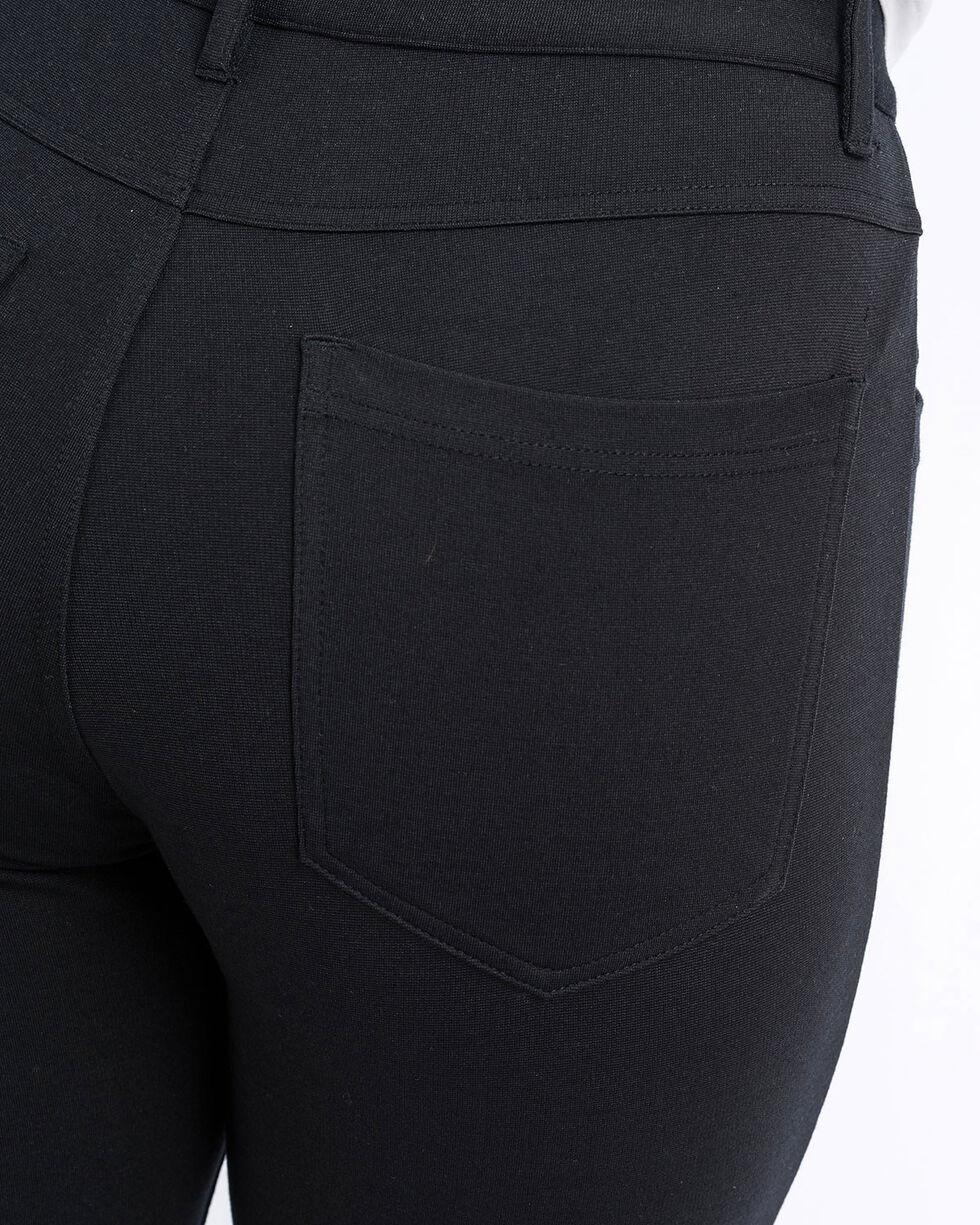 Cinch Women's Knit Moto Pants, Black, hi-res