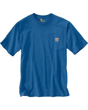 Carhartt Men's Blue Workwear Dog Filled C Graphic Tee , Medium Blue, hi-res