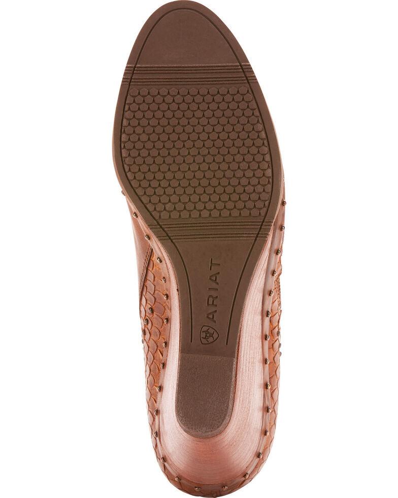 Ariat Women's Stax Stud Detail Wedge Booties - Round Toe, Tan, hi-res