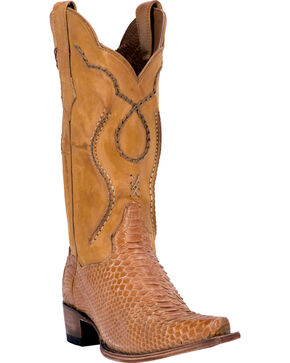 Dan Post Men's Okeechobee Python Exotic Boots, Honey, hi-res