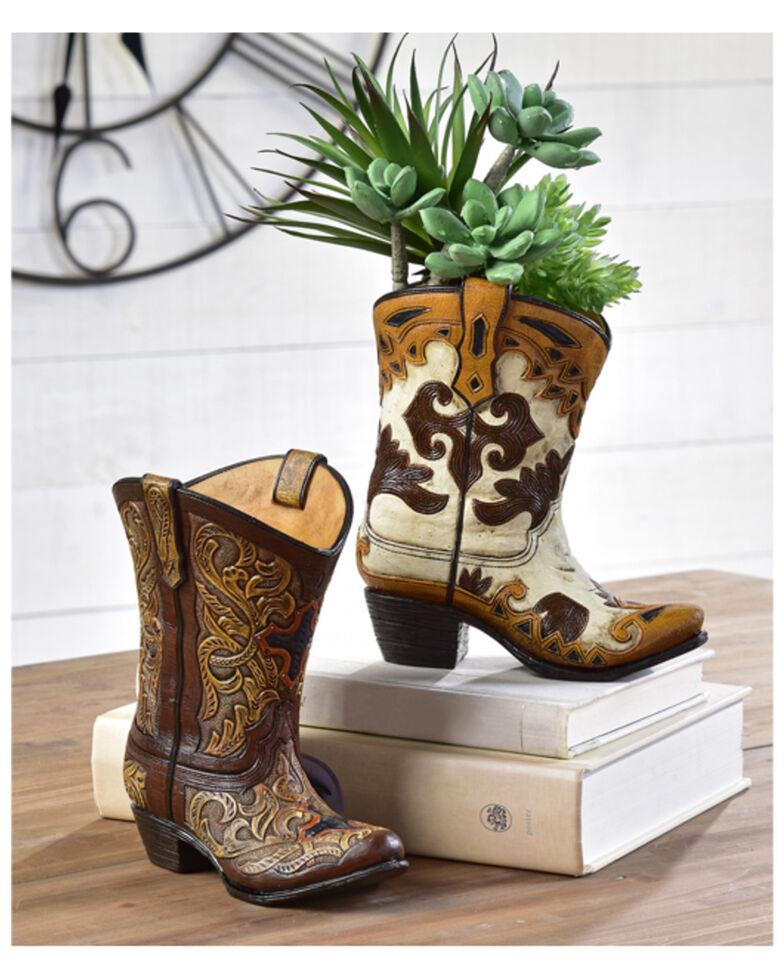 Giftcraft Cowboy Boot Vase, No Color, hi-res
