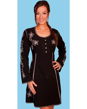 Scully Long Sleeve Dress, Black, hi-res