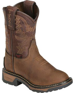 Tony Lama Youth Boys' Crazy Horse Western Work Boots - Round Toe, Crazyhorse, hi-res