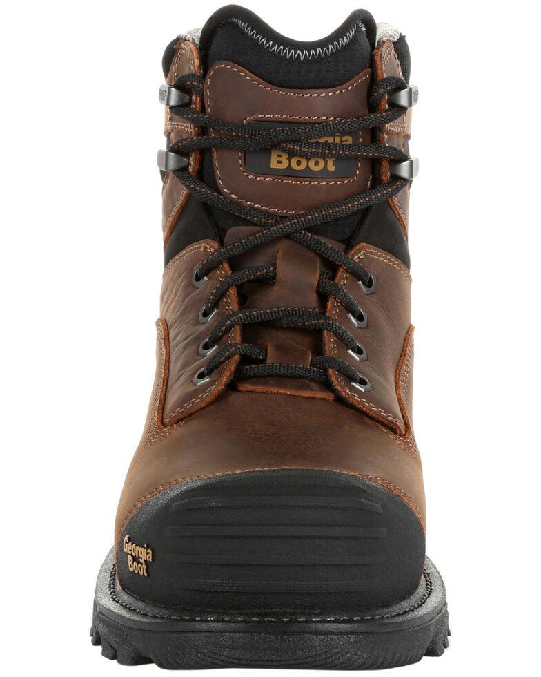 Georgia Men's Rumbler Waterproof Work Boots - Composite Toe, Brown, hi-res