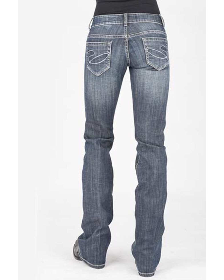 Stetson Women's 818 Contemporary Bootcut Jeans, Blue, hi-res