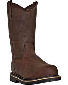 McRae Industrial Men's Steel Toe Ruff Rider Work Boots, Dark Brown, hi-res