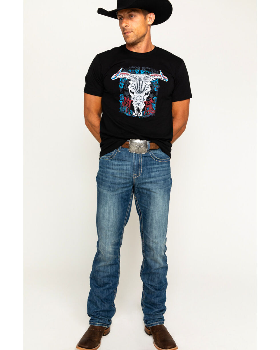 Moonshine Spirit Men's Day Of The Dead T-Shirt, Black, hi-res