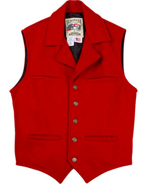 Schaefer Men's 805 Cattle Baron Vest - Big & Tall, Red, hi-res