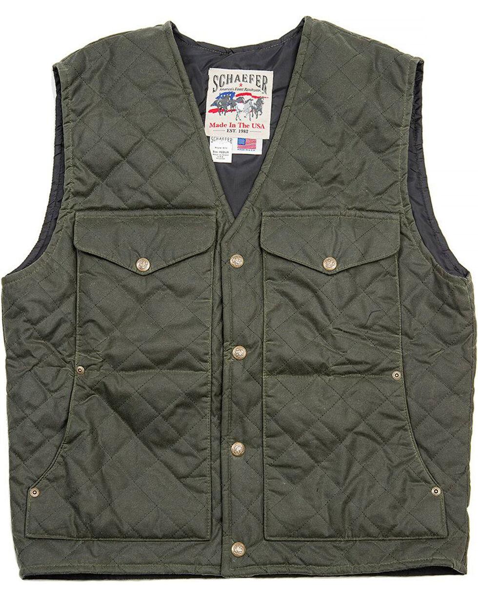 Schaefer Outfitter Men's Loden Blacktail Quilted Rangewas Vest , Olive, hi-res