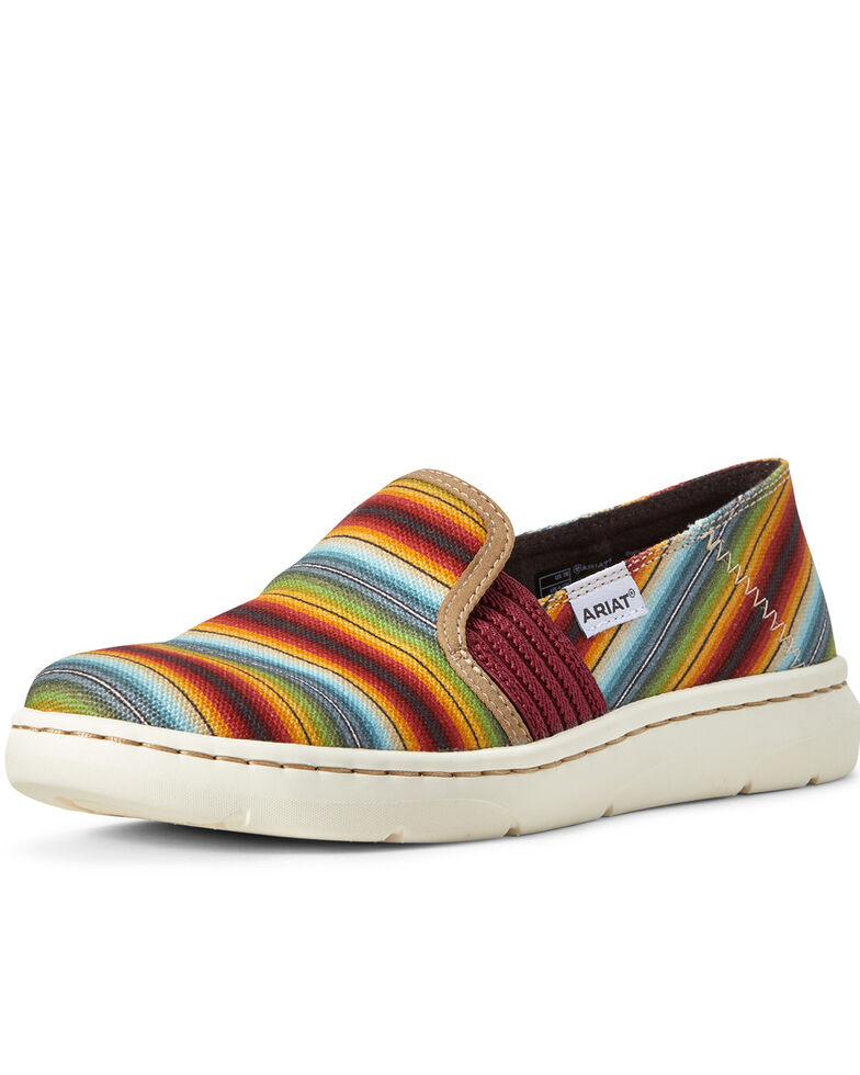 Ariat Women's Ryder Old Muted Serape Slip-On Shoes, Multi, hi-res