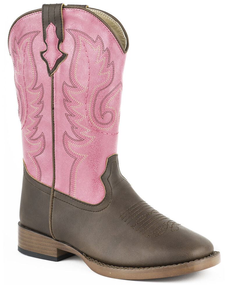 Roper Kid's Texsis Western Boots, Brown, hi-res