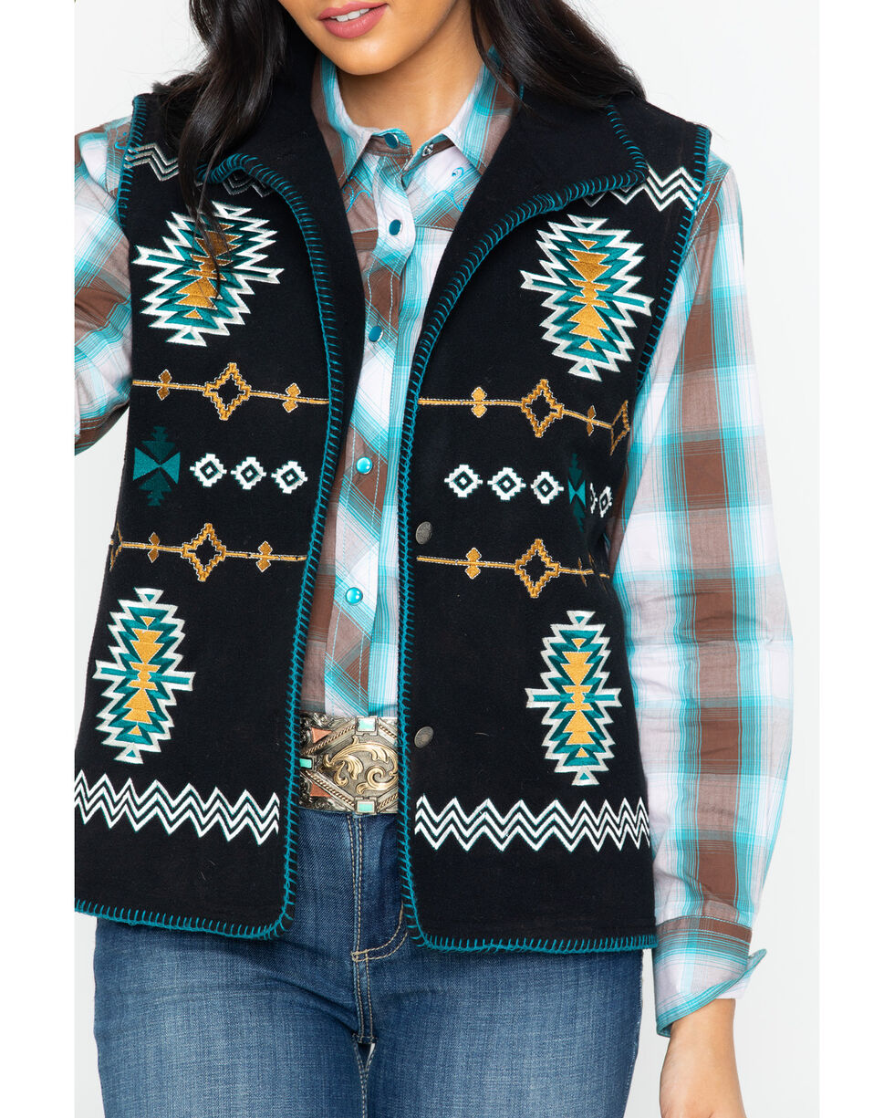 Outback Trading Co Women's Santa Fe Fleece Vest, , hi-res