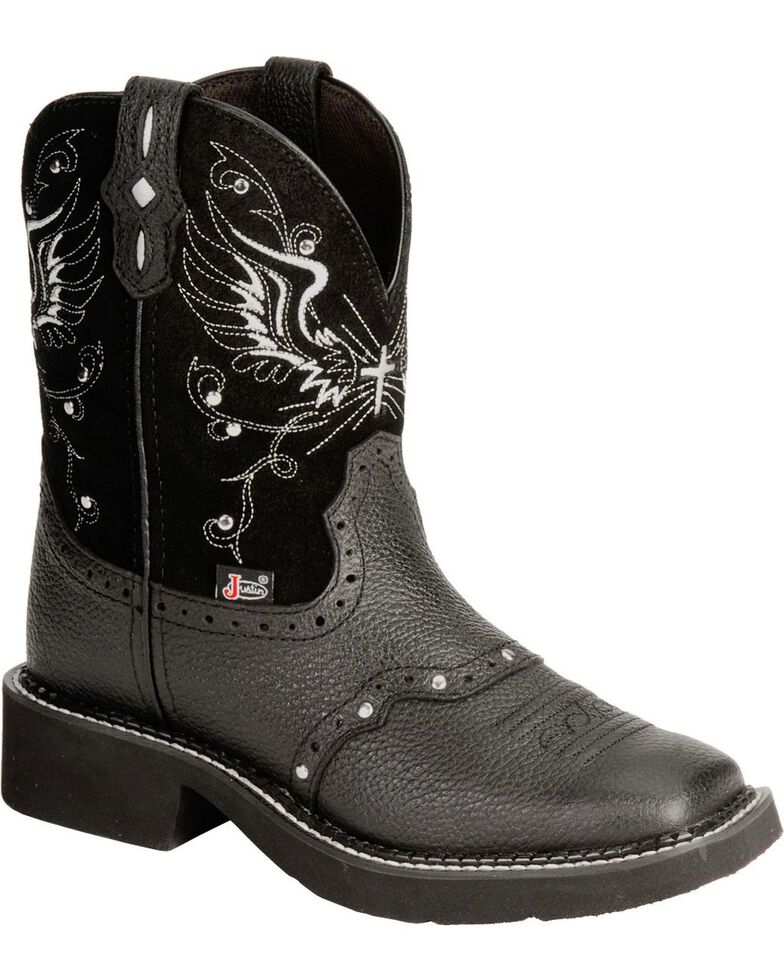 Justin Gypsy Women's Mandra Black Cowgirl Boots - Square Toe, Black, hi-res