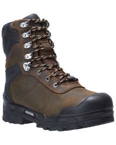 Wolverine Men's Warrior Met Guard Work Boots - Composite Toe, Dark Brown, hi-res