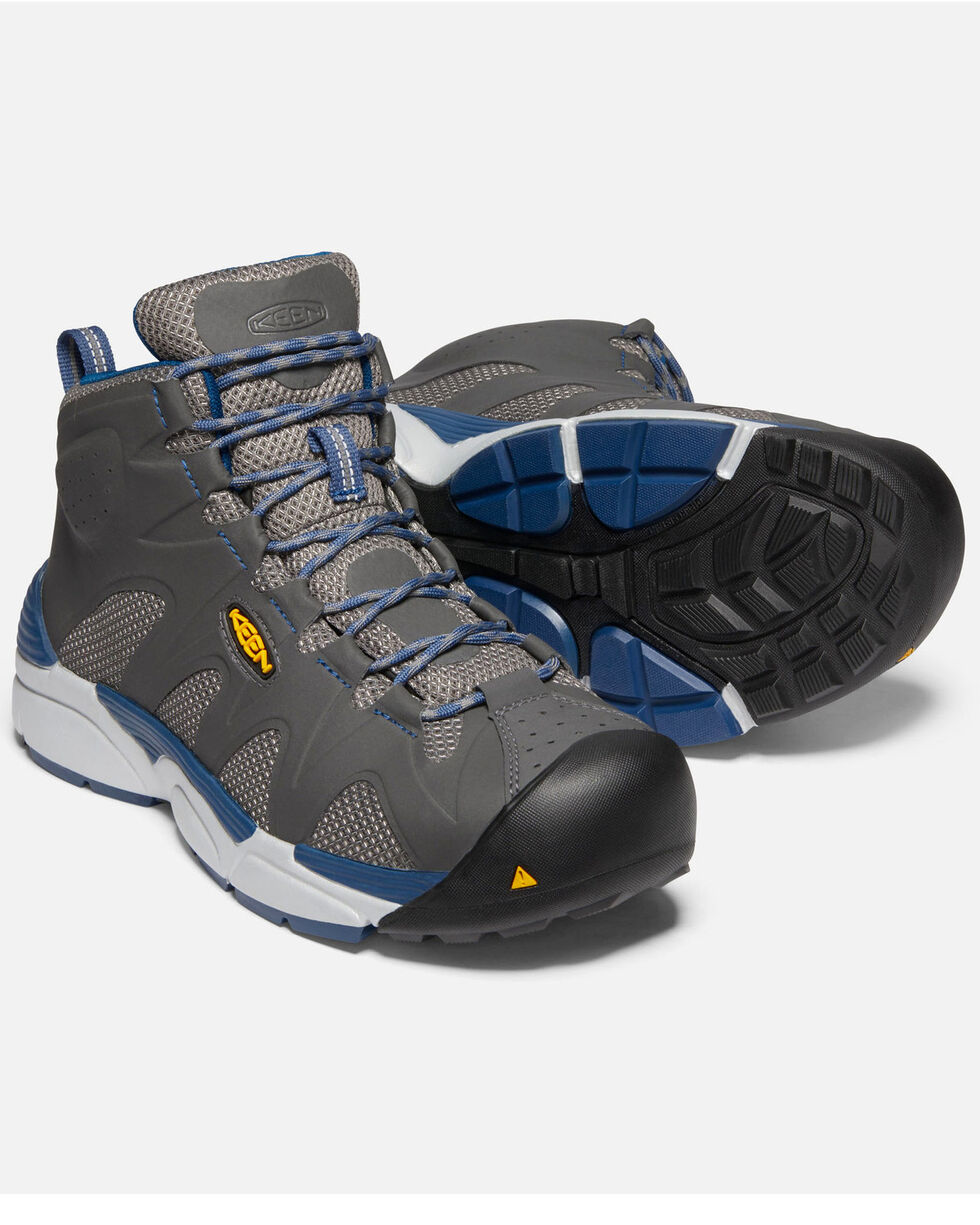 Keen Men's Grey San Antonio Work Boots - Aluminum Toe, Grey, hi-res