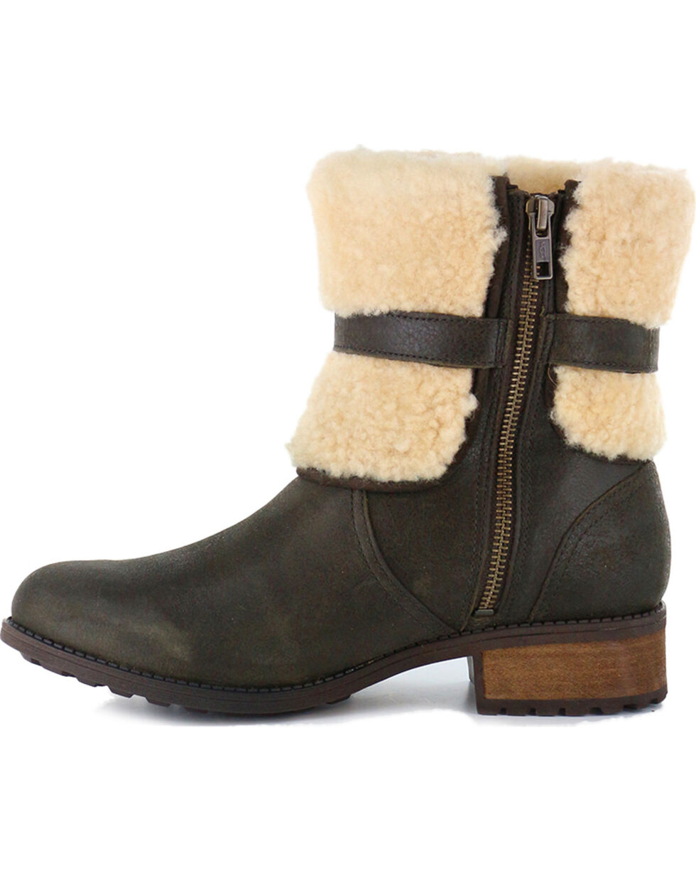 UGG Women's Lodge Avalahn Blayre II Boots - Round Toe, Dark Brown, hi-res