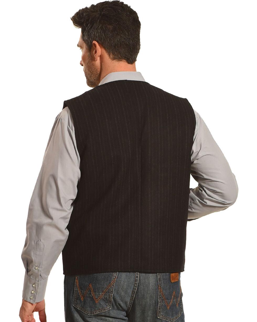 Wyoming Traders Men's Black Banker's Wool Vest, Black, hi-res