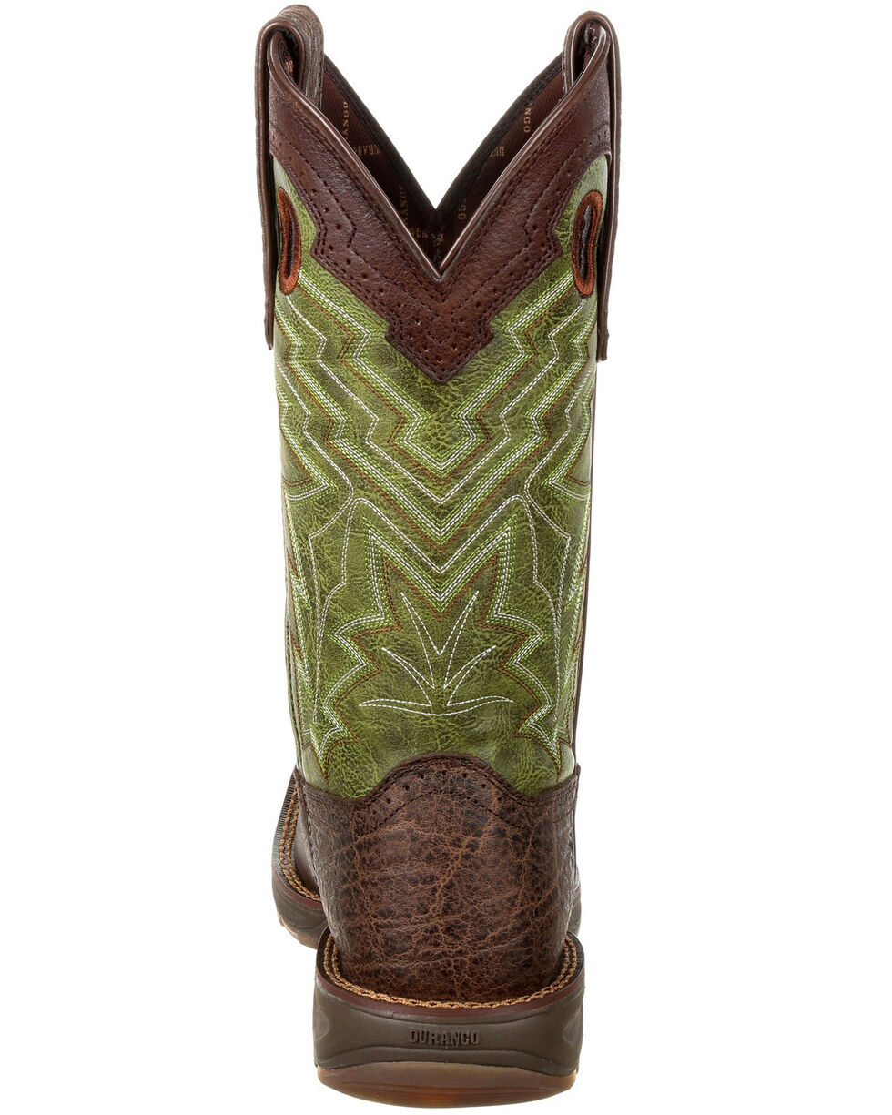 Durango Men's Ultralite Faux Elephant Western Saddle Boots - Square Toe, , hi-res